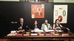 Marini e Guarducci a conferenza stampa di presentazione del Todi Festival